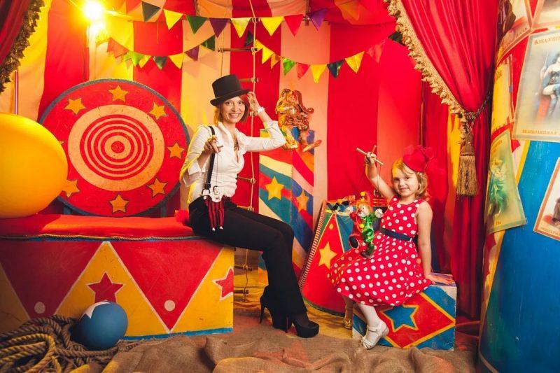 встреча гостей на день рождения ребёнка в формате цирка