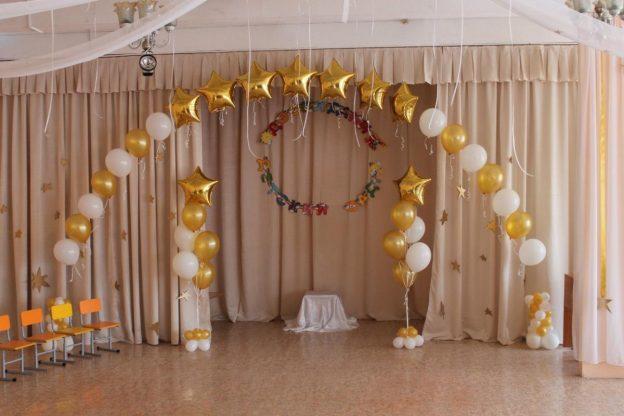 Украшение зала для выпускного вечера в детском саду
