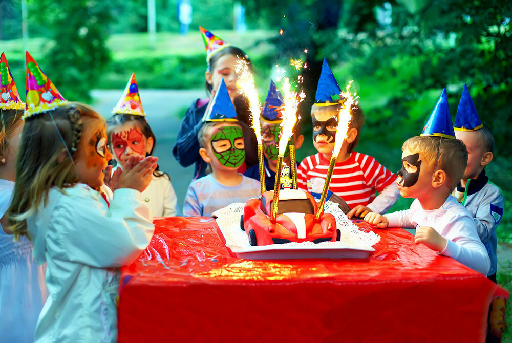 летний день рождения ребёнка