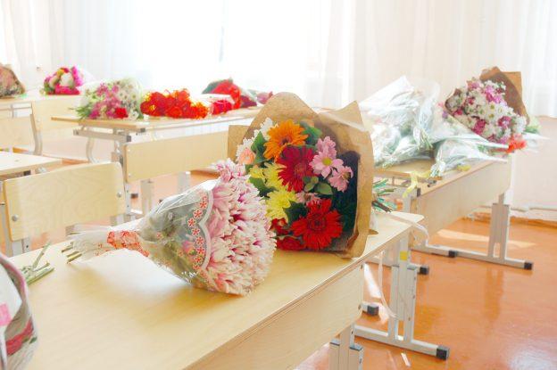 букеты цветов на партах